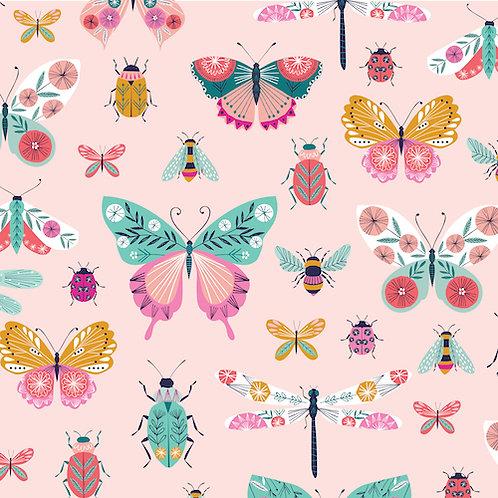Summer Dance - Butterflies and Bugs Pink $28 pm