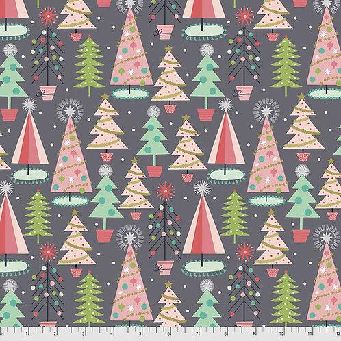 Fa La La Christmas Spruces Grey