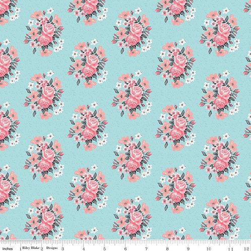 Abbie's Garden - Bouquet Aqua $28 pm