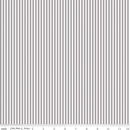 "1/8"" Stripe Grey/White $28 pm"