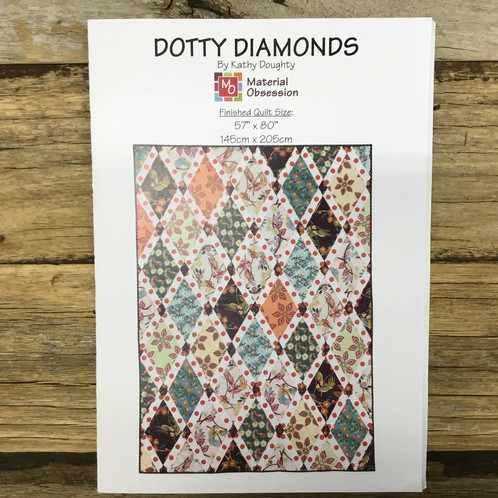 Quilt It Dotty.Dotty Diamonds Quilt Pattern
