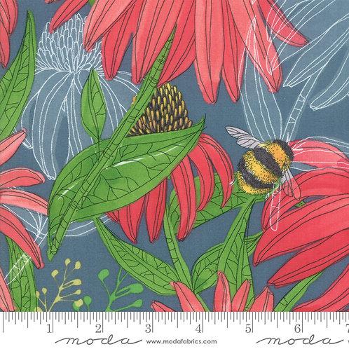 Painted Meadow - Cornflower Teal $28 pm
