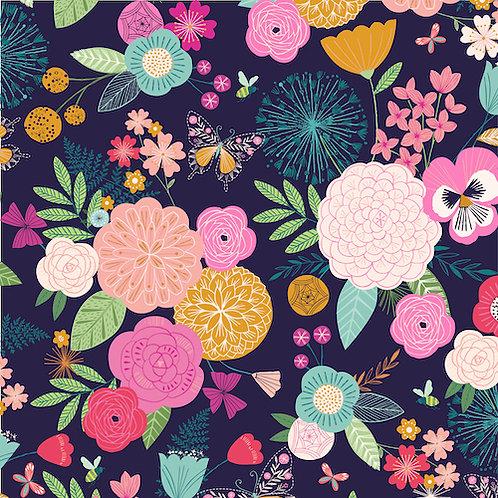 Summer Dance - Flower Garden Navy $28 pm