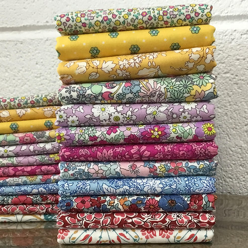 Liberty Quilting Weight Cotton 12 x Fat Quarter Bundle (B)
