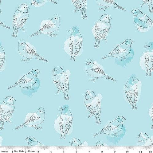 Desert Bloom - Bird Blue $28 pm