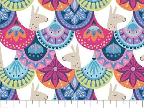 Llama Drama - Embellished Scallop Multi $28pm