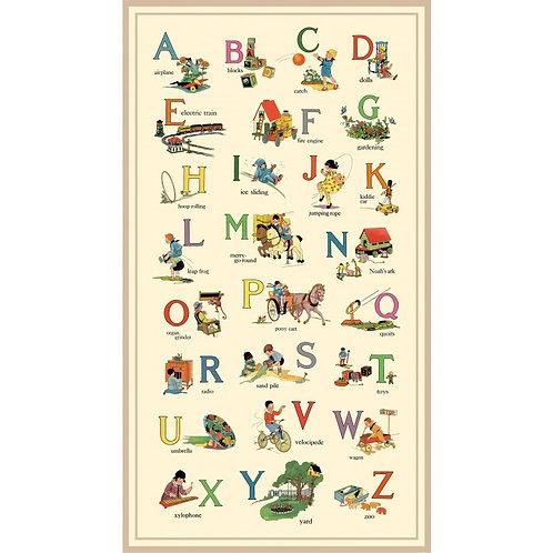 Vintage Treasures Alphabet List Panel