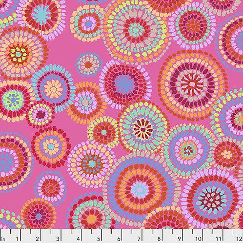 Kaffe Fasset Spring 2020 - Mosaic Circles Pink $28 pm