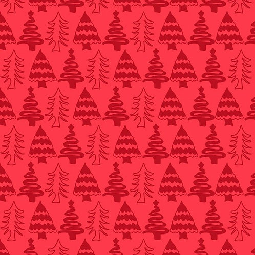 Aussie Christmas Delights - Christmas Trees Red $30 pm