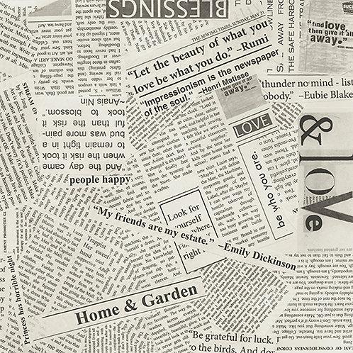 Story - Wonder Newsprint Text Wide Back $40 pm