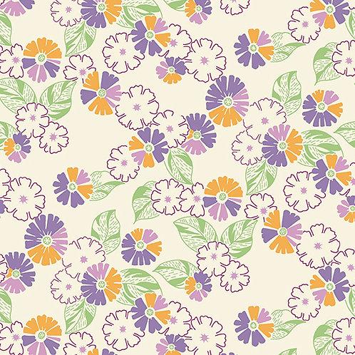 Darling Clementine - Flower Bunch Orange/Purple $28 pm