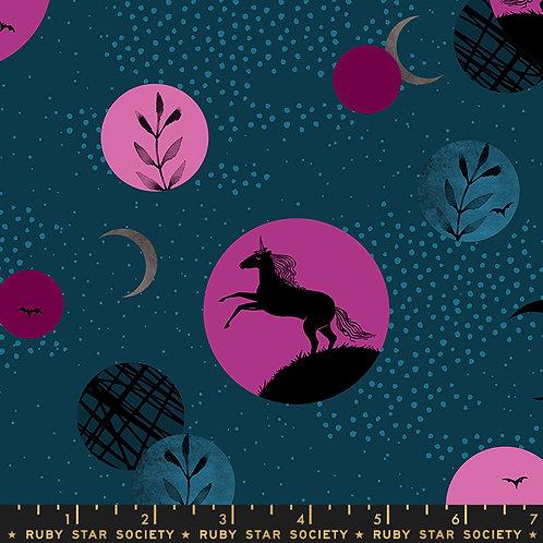 Crescent - Unicorn Moon Teal $28 pm