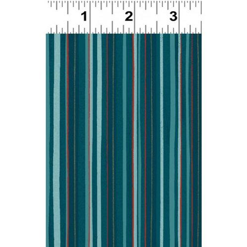 Winter Woodland - Stripe Teal $28 pm