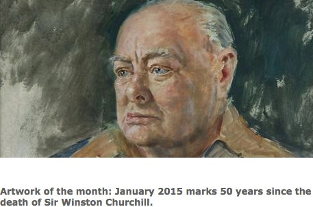 Art in (the UK's) Parliament; January Artwork of the Month: 'Sir Winston Churchill' by B