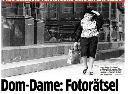 Pressebericht: Das Fotorätsel um die Dom-Dame von Bernd Kollmann