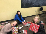 Wrapping Presents for Will Rogers Elementary Students