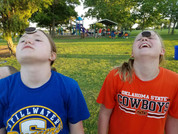 Oreo Eating Competition at Boomer Lake