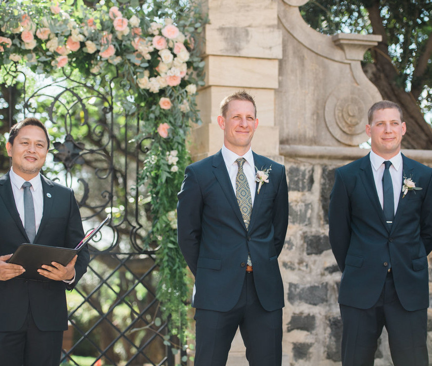 Rev. James Chun with groomsmen