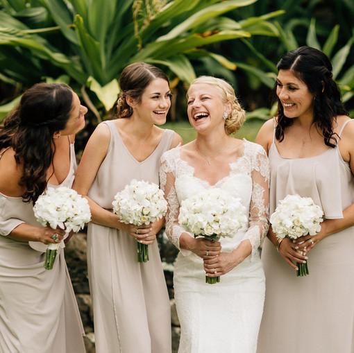 Hawaiian wedding party
