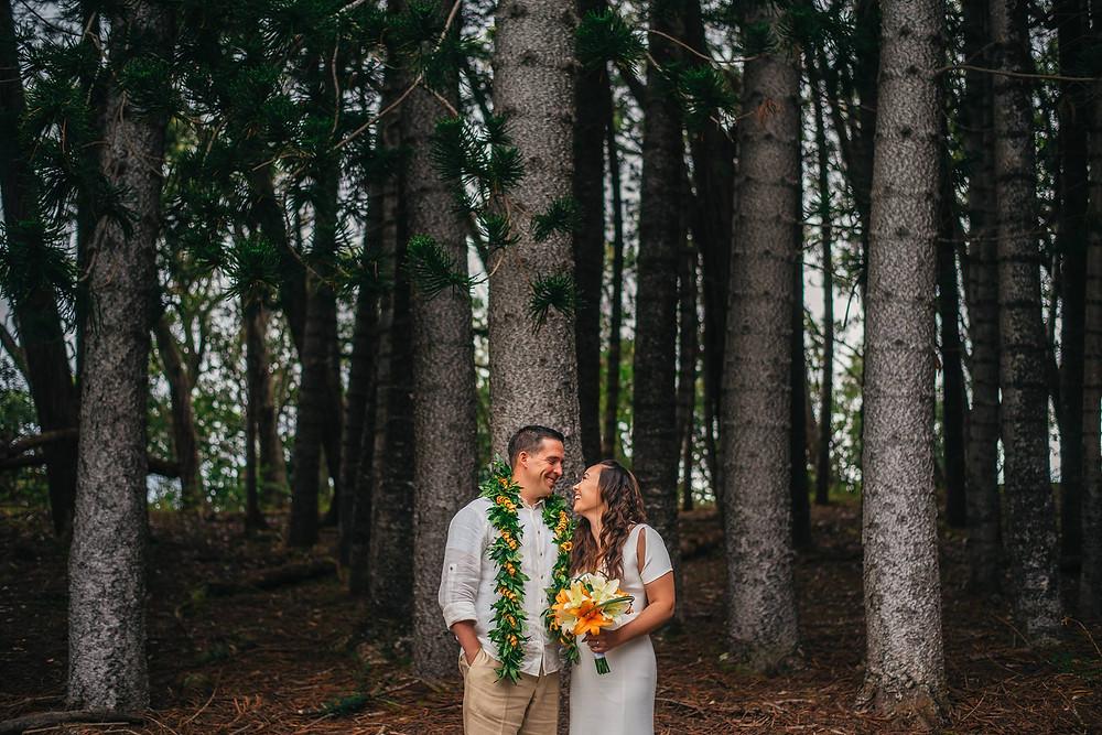 Wedding at Aiea Loop Trail