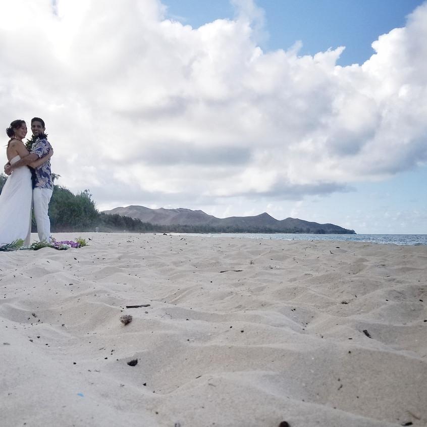 A wedding in Waimanalo Hawaii