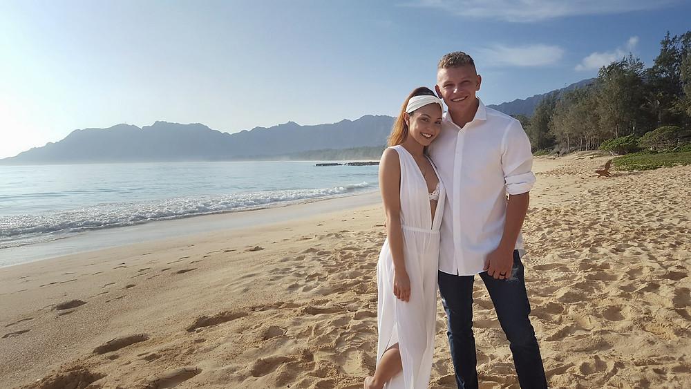 Wedding Elopement in Waimanalo Hawaii