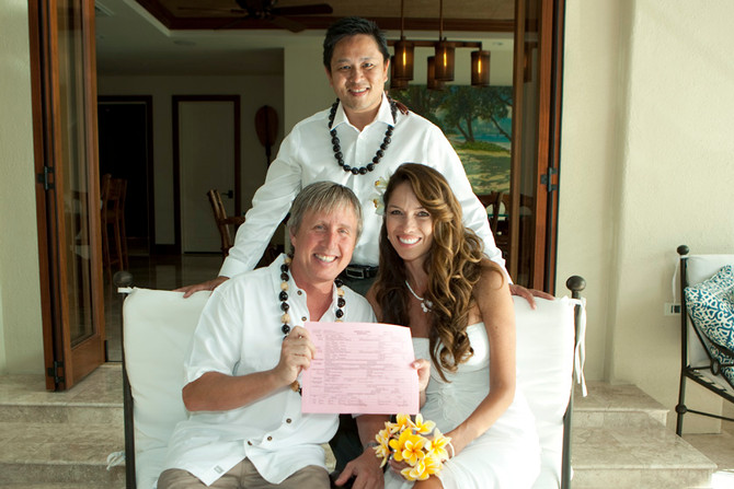 Hawaii WedHawaii Wedding Minister and Officiant  :  Denise and Jon at Private Estate (Portlock Hawai