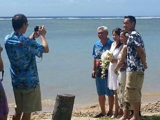 Tracey & Mickey  :  Hawaii Beach Wedding