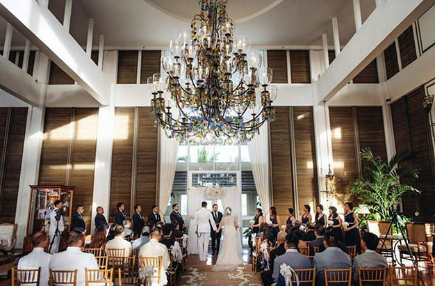Beautiful Chandelier Over Their Wedding At The Kahala Resort