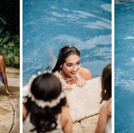 Mermaid Pool Wedding reception