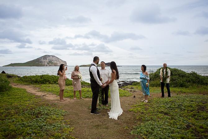 A Destination Elopement Wedding at Makapuu Beach in Hawaii