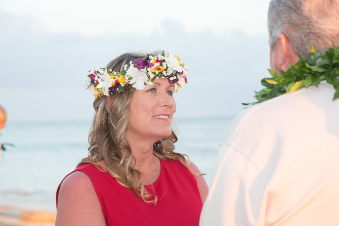 25 years of commitment.  A Hawaii wedding vow renewal