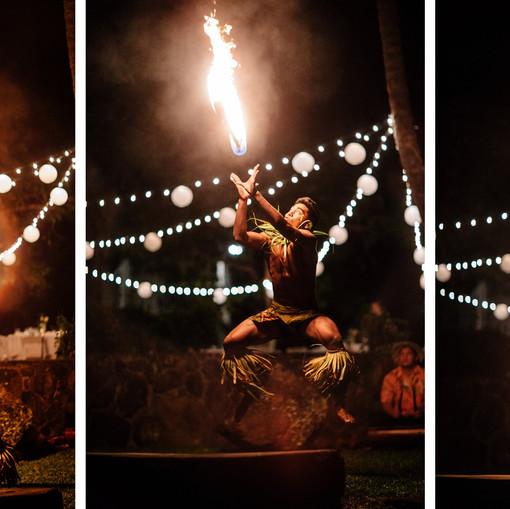 Fire dancer hawaii wedding reception
