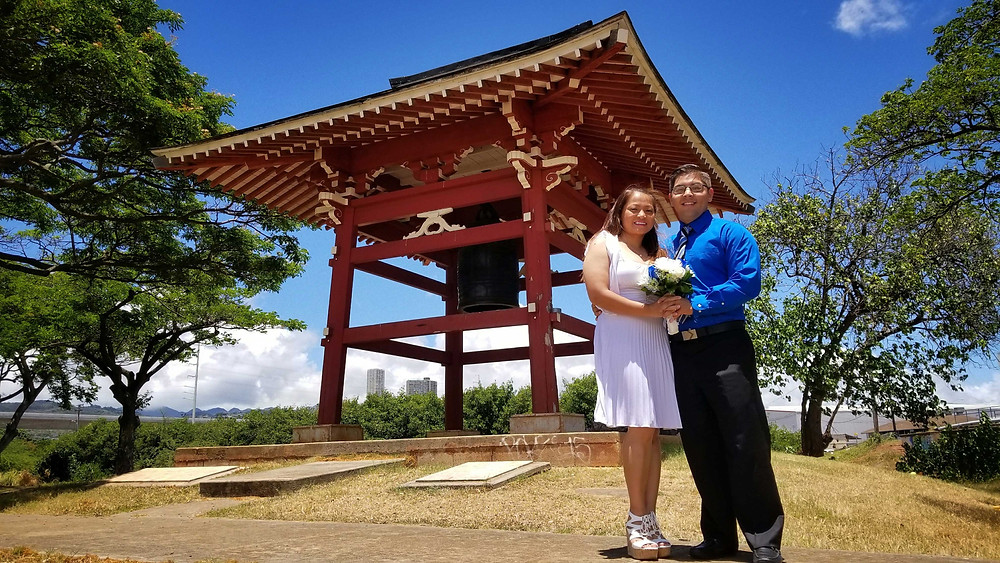 Hawaii Wedding Elopement at Neal Blaisdell Park in Aiea