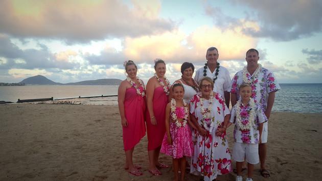 Hawaii Wedding Elopement at Kahala Beach