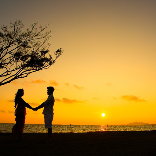 wedding sunset hawaii