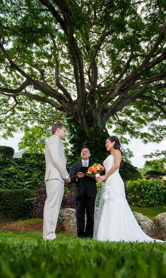 Hawaii Wedding Celebrant at Kualoa Ranch