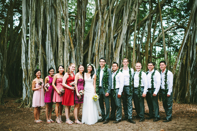 Hawaii Wedding Minister and Officiant  :  Zeny and Sean at Sunset Ranch