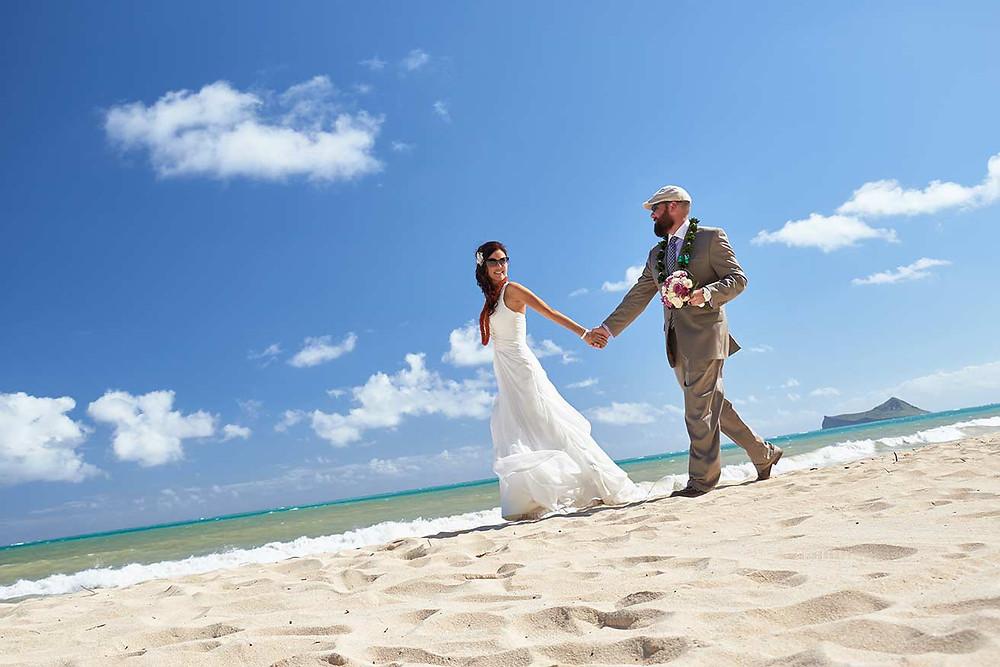 Waimanalo Beach Wedding in Hawaii, Oahu