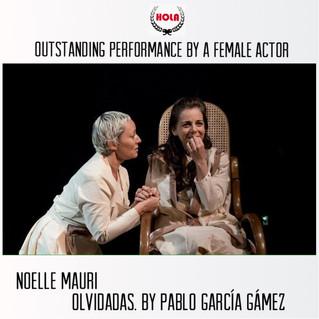 Noëlle Mauri, Premio HOLA como mejor Actriz, 2017 New York.