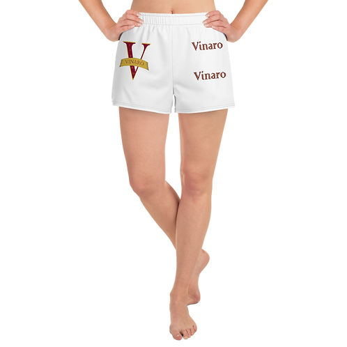 Vinaro Women's Athletic Short Shorts White