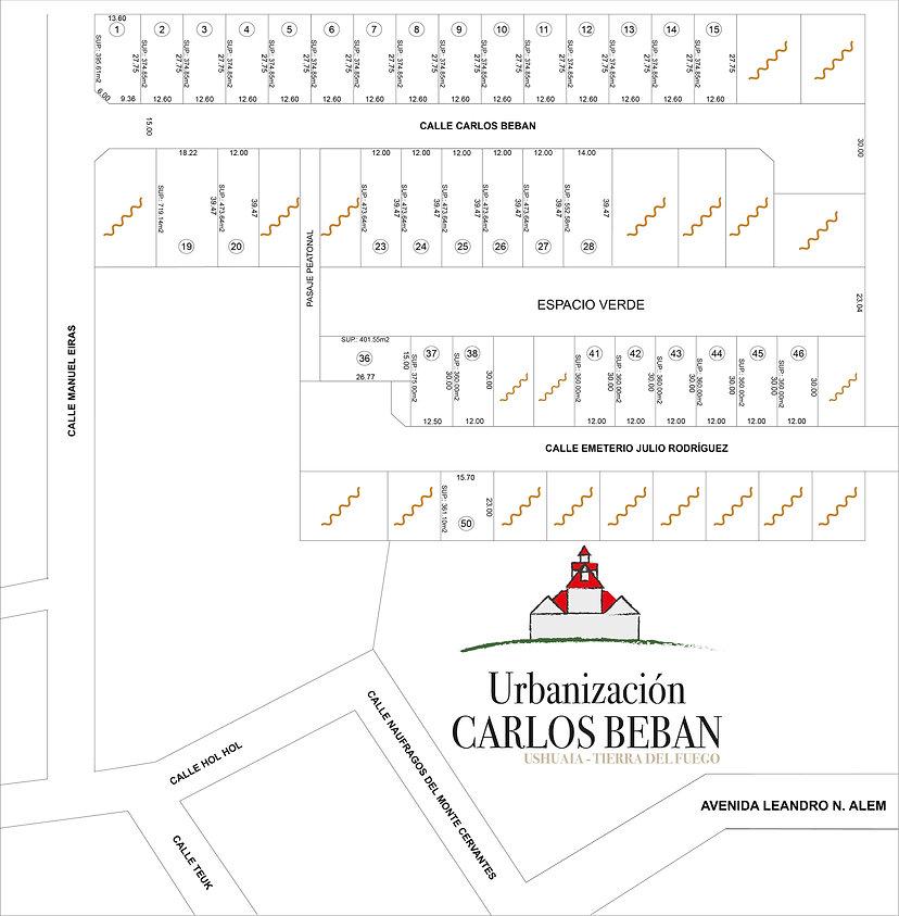 Plano vendidos - Urbanización Carlos Beb