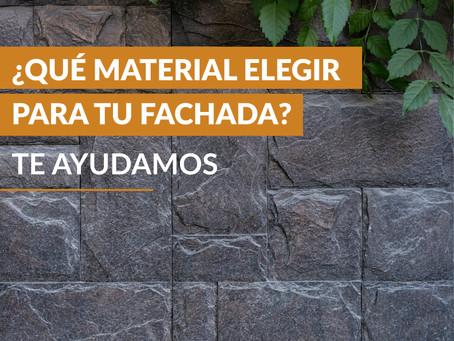 ¿Qué material elegir para tu fachada? Te ayudamos.