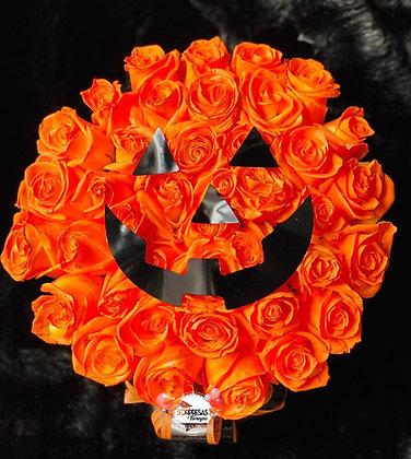 Halloween roses orange