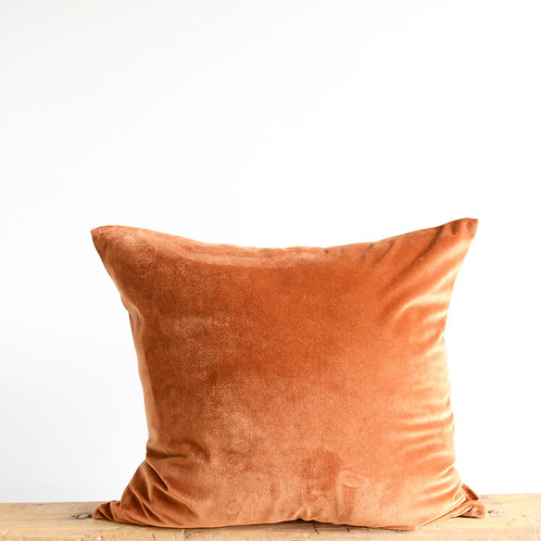 Clay Velvet Pillow Cover