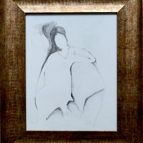 "Pencil Drawing/Woman/Front/11""x14""/Art Print/Original Print"