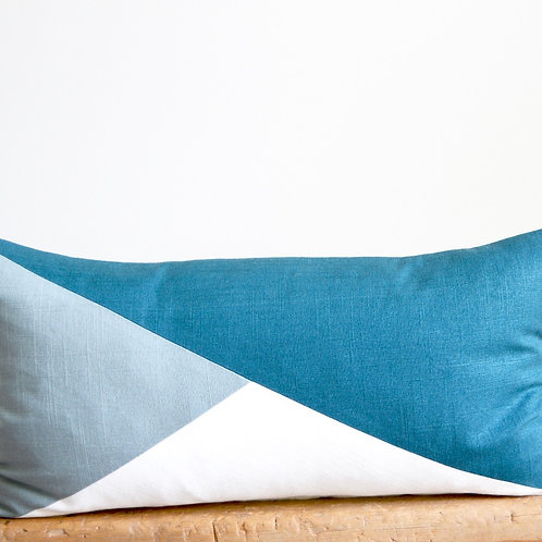 Slate, DeepTeal and Ivory Pillow Cover