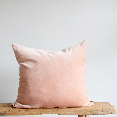 Velvet Pillow Cover Hand Dyed in Blush