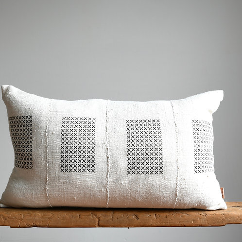 Authentic Mud Cloth Scandi Boho Lumbar Pillow