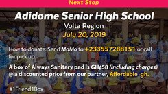 Our Next Stop: Adidome Senior High School in Volta Region